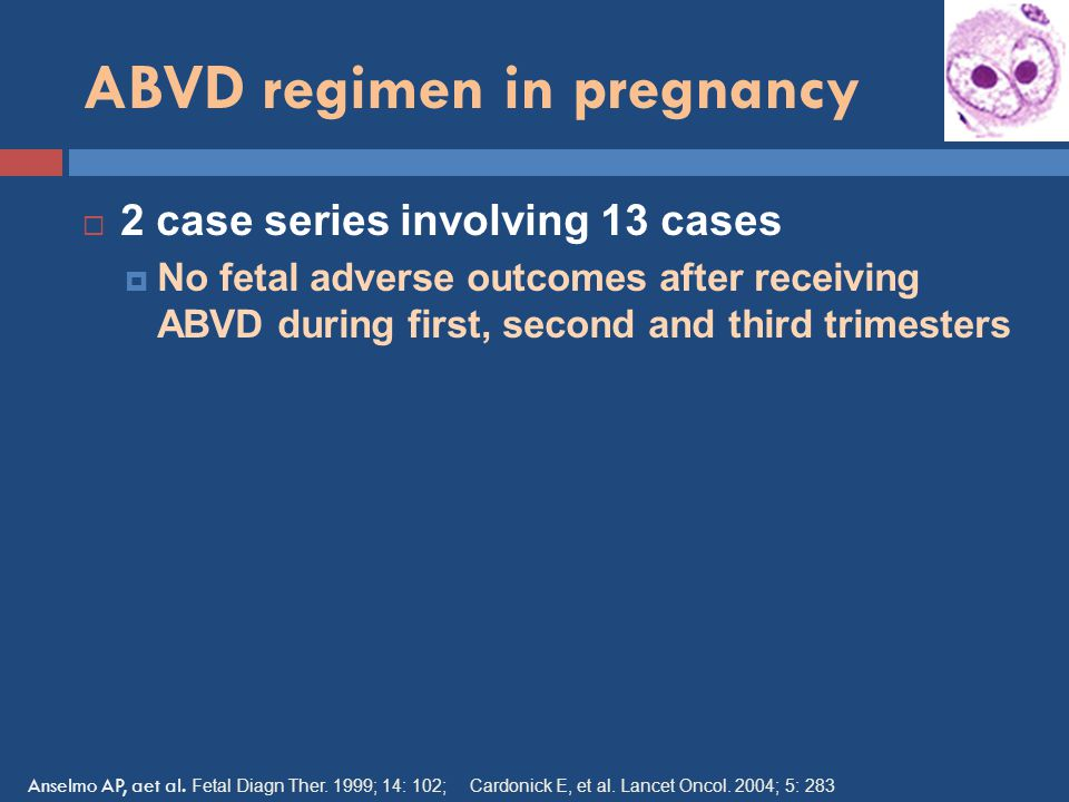 ABVD regimen in pregnancy