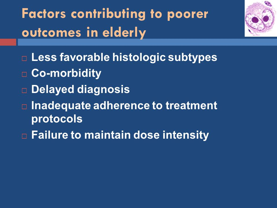 Factors contributing to poorer outcomes in elderly