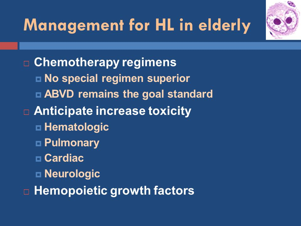 Management for HL in elderly
