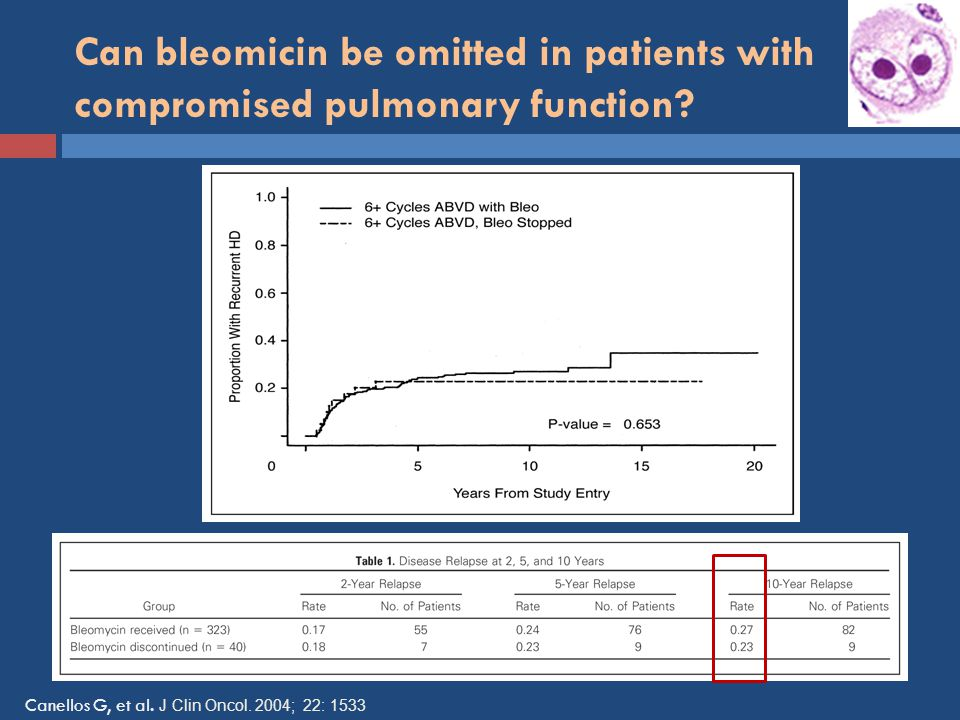 Can bleomicin be omitted in patients with compromised pulmonary function
