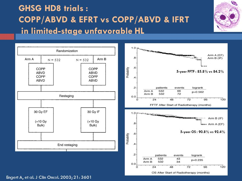 GHSG HD8 trials : COPP/ABVD & EFRT vs COPP/ABVD & IFRT in limited-stage unfavorable HL