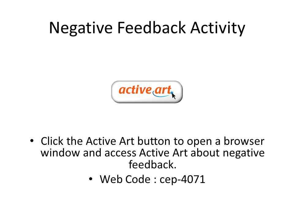 Negative Feedback Activity