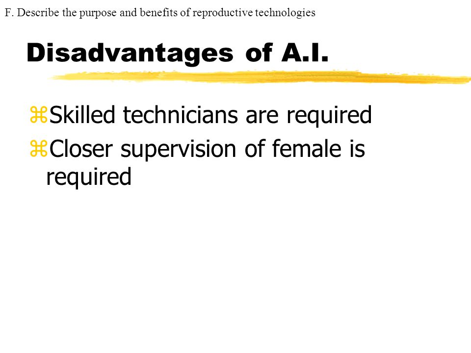 Disadvantages of A.I. Skilled technicians are required