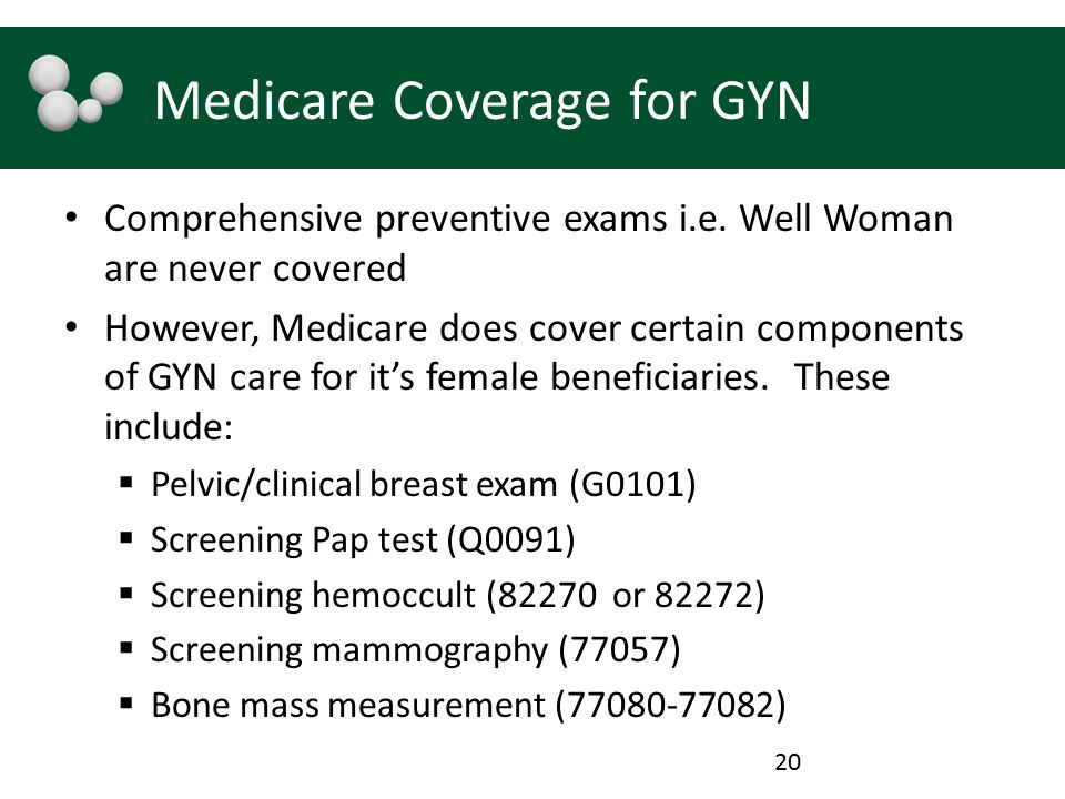 Medicare Coverage for GYN