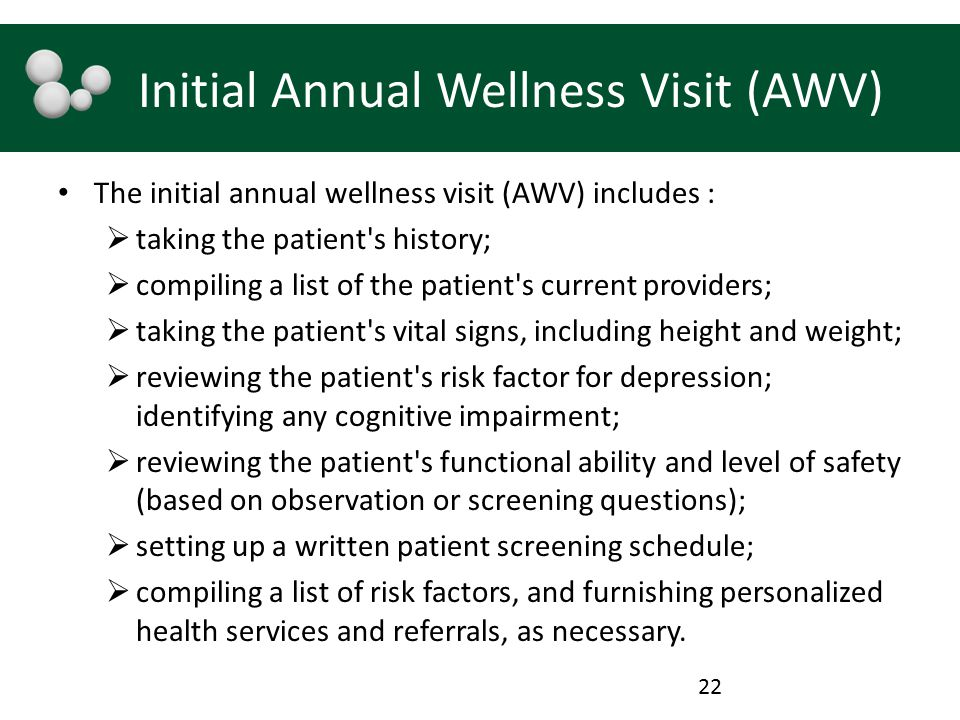 Initial Annual Wellness Visit (AWV)