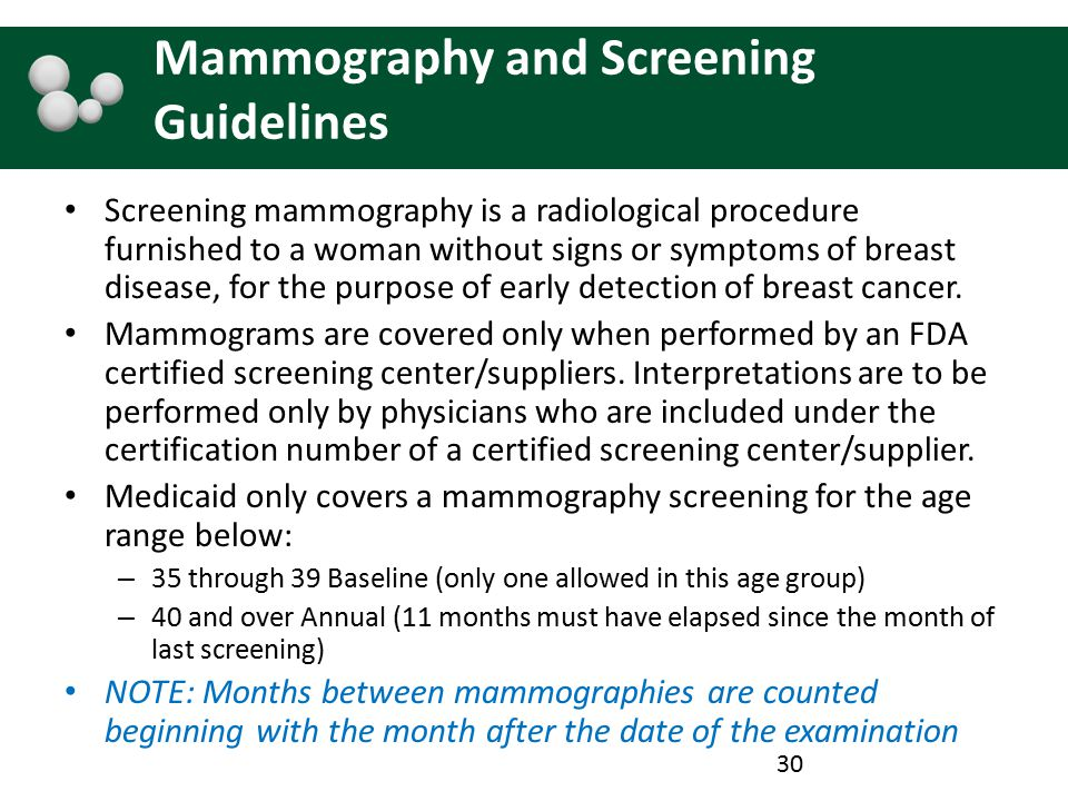 Mammography and Screening Guidelines