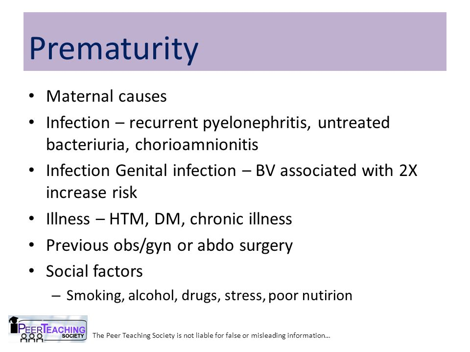 Prematurity Maternal causes
