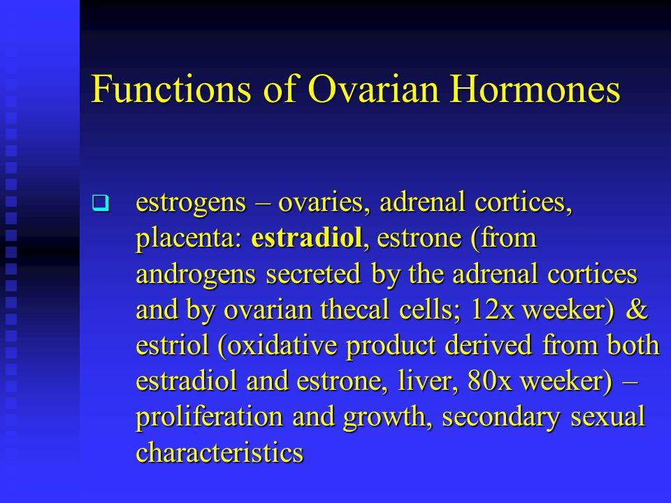Functions of Ovarian Hormones