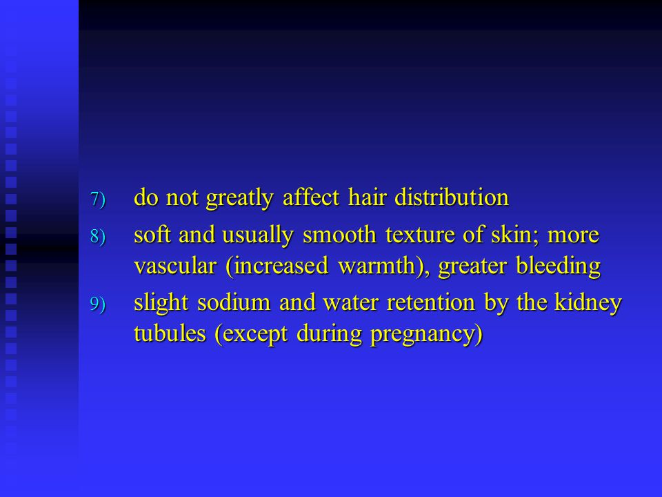 do not greatly affect hair distribution