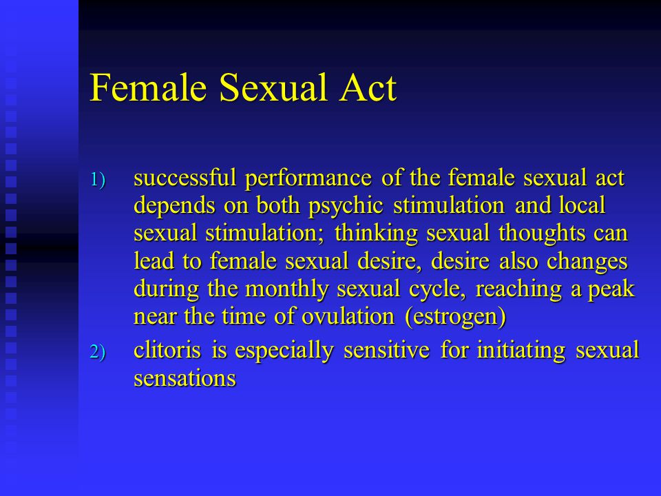 Female Sexual Act