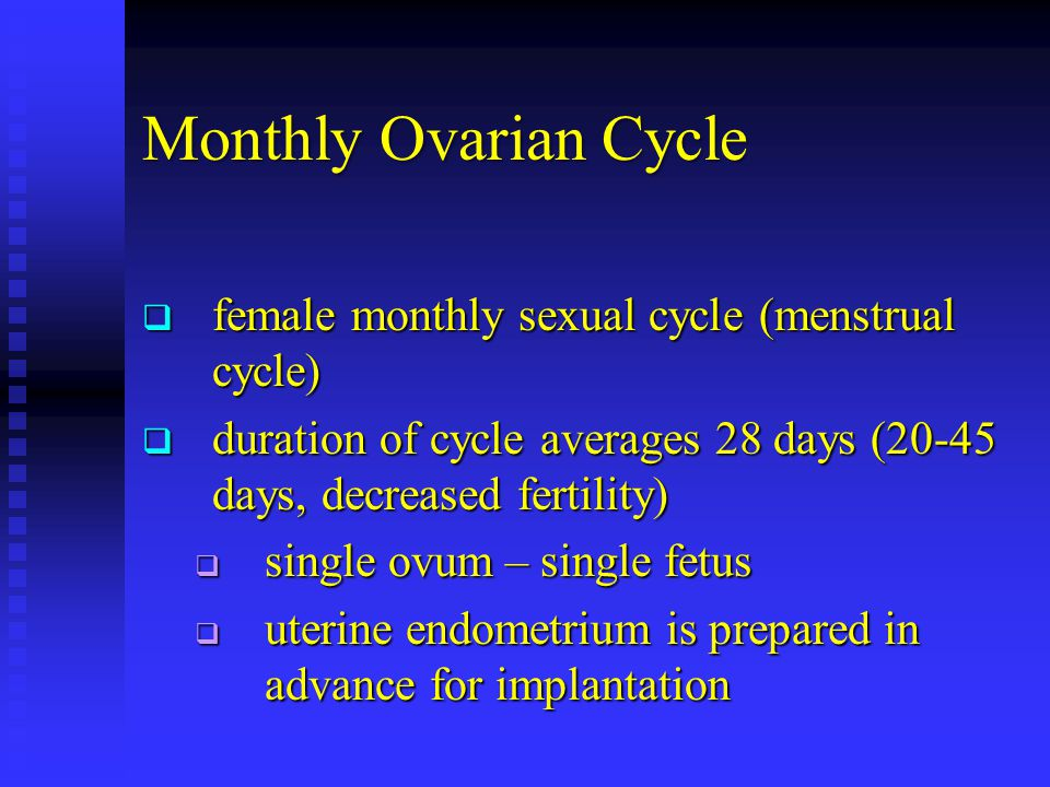 Monthly Ovarian Cycle female monthly sexual cycle (menstrual cycle)