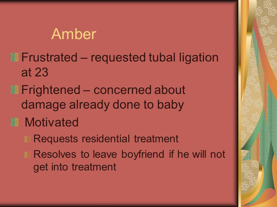 Amber Frustrated – requested tubal ligation at 23