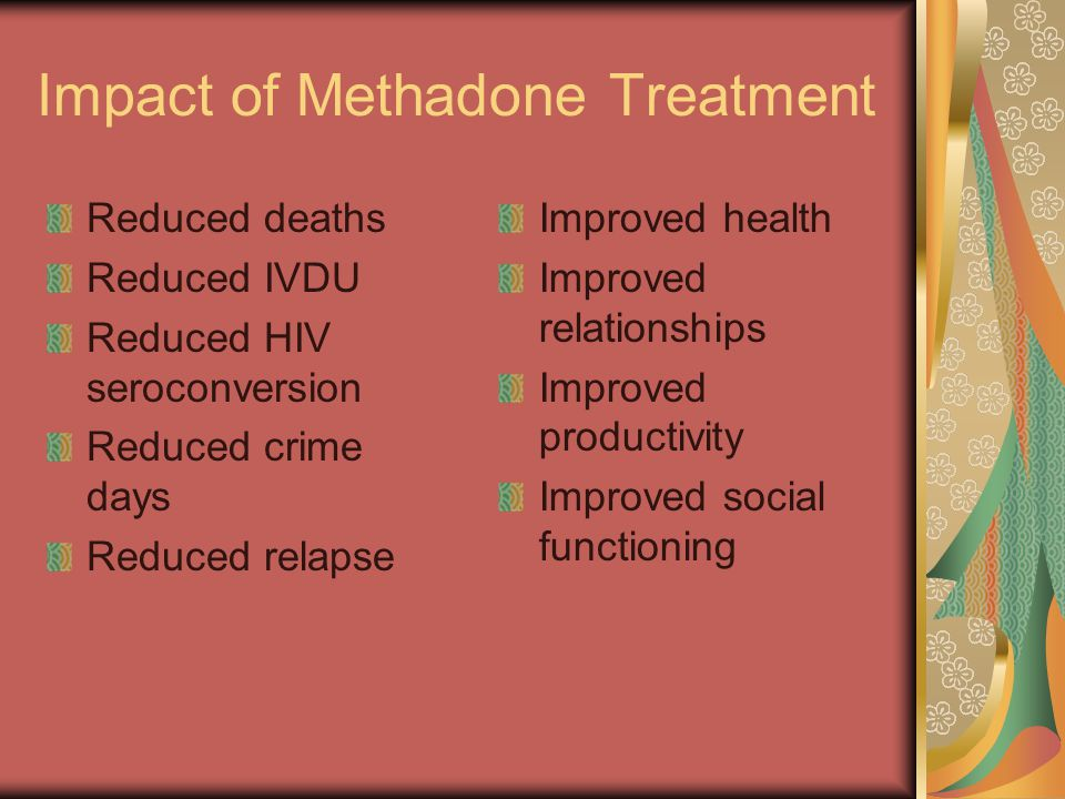 Impact of Methadone Treatment
