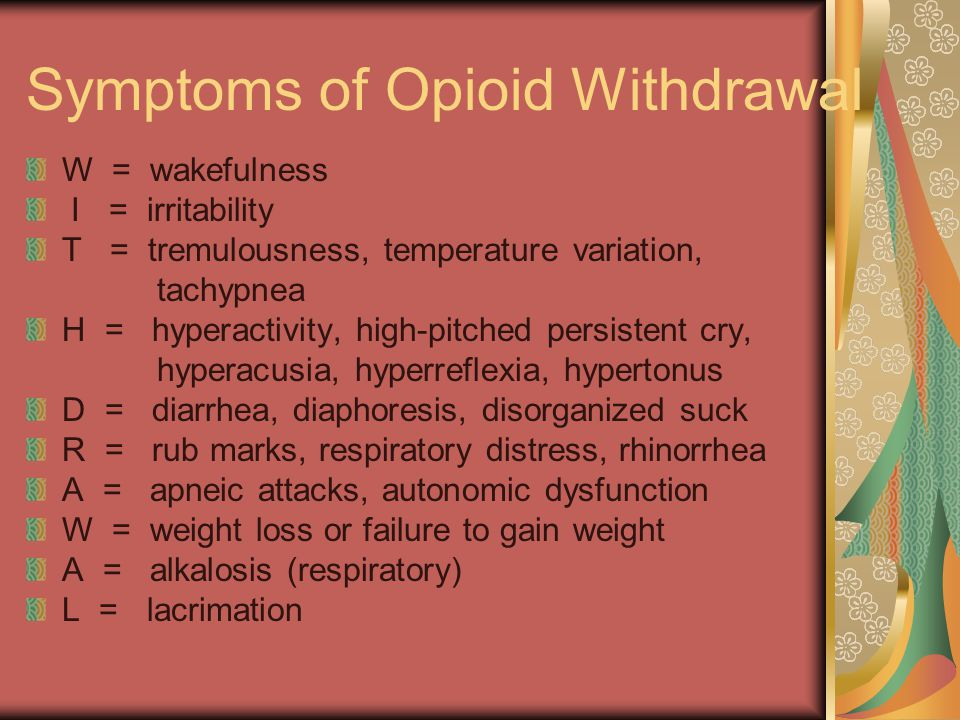 Symptoms of Opioid Withdrawal