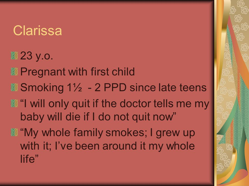 Clarissa 23 y.o. Pregnant with first child