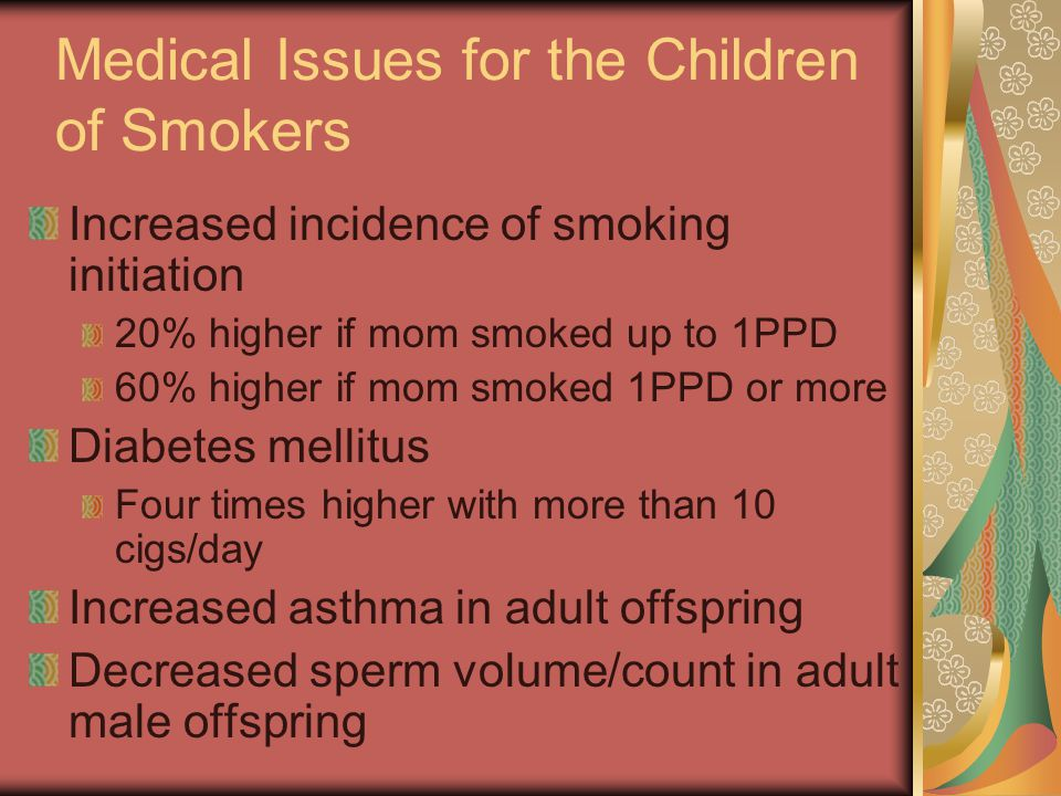 Medical Issues for the Children of Smokers