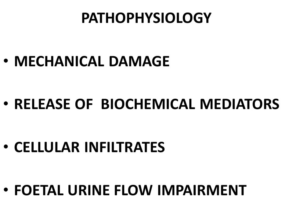 PATHOPHYSIOLOGY MECHANICAL DAMAGE. RELEASE OF BIOCHEMICAL MEDIATORS.