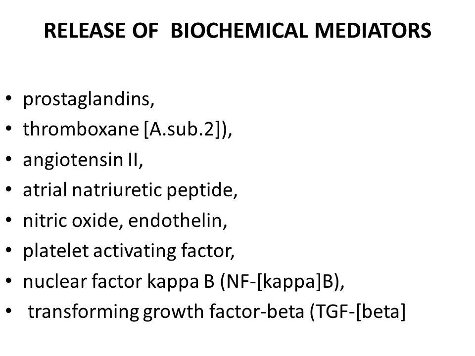 RELEASE OF BIOCHEMICAL MEDIATORS