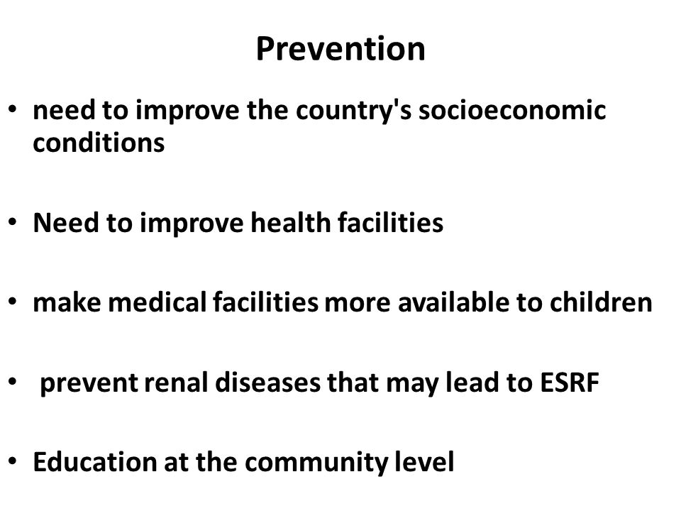 Prevention need to improve the country s socioeconomic conditions