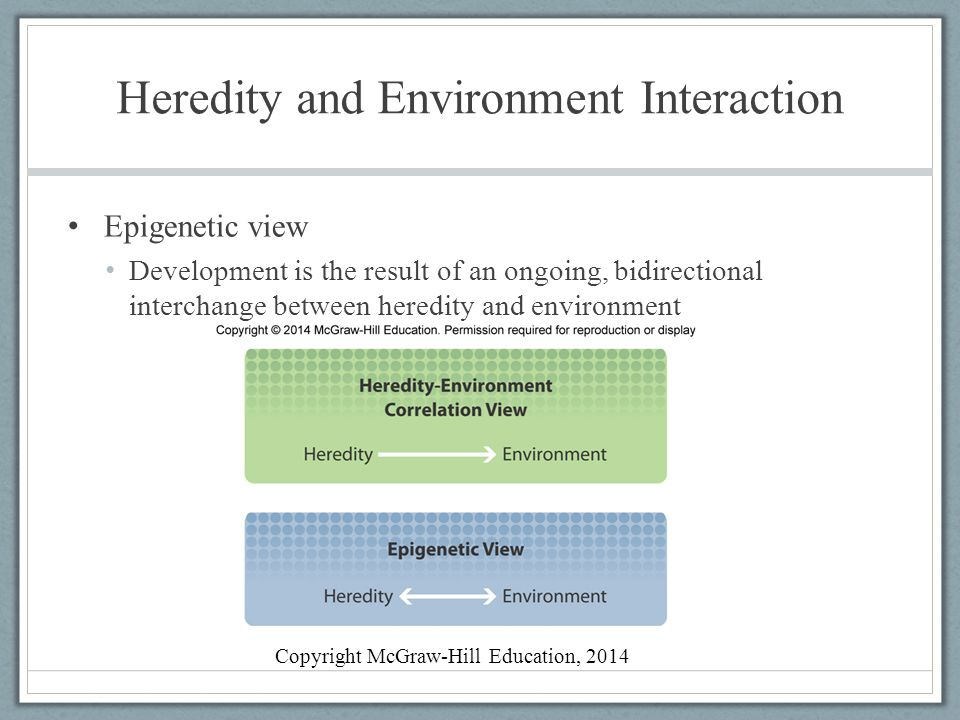 Heredity and Environment Interaction