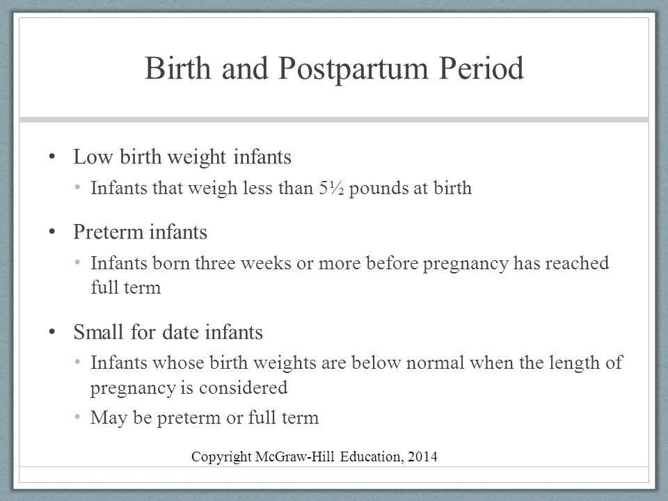 Birth and Postpartum Period