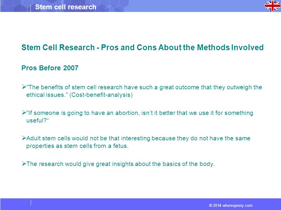 Stem Cell Research - Pros and Cons About the Methods Involved