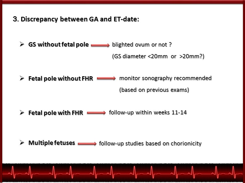 3. Discrepancy between GA and ET-date:
