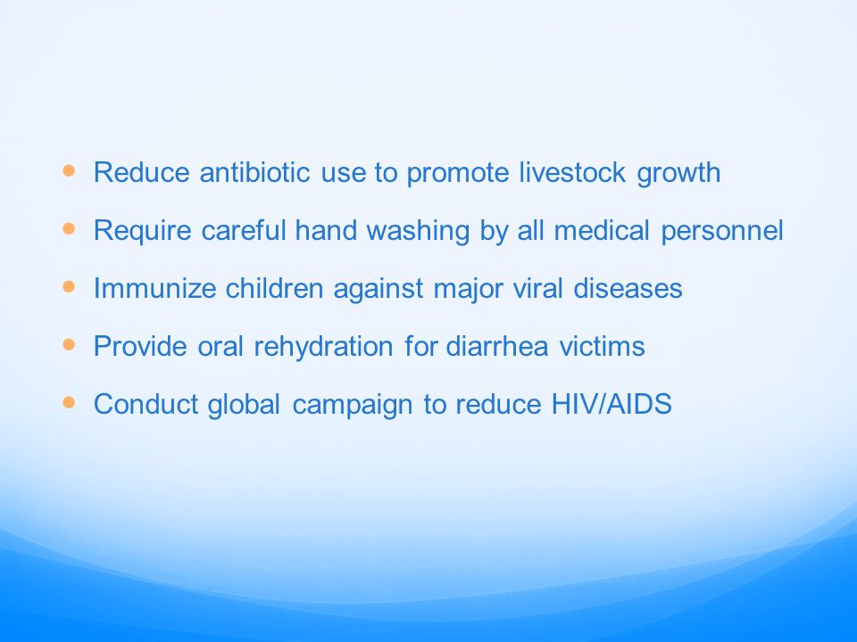 Reduce antibiotic use to promote livestock growth