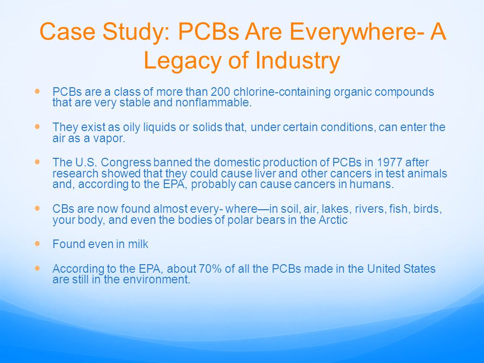 Case Study: PCBs Are Everywhere- A Legacy of Industry