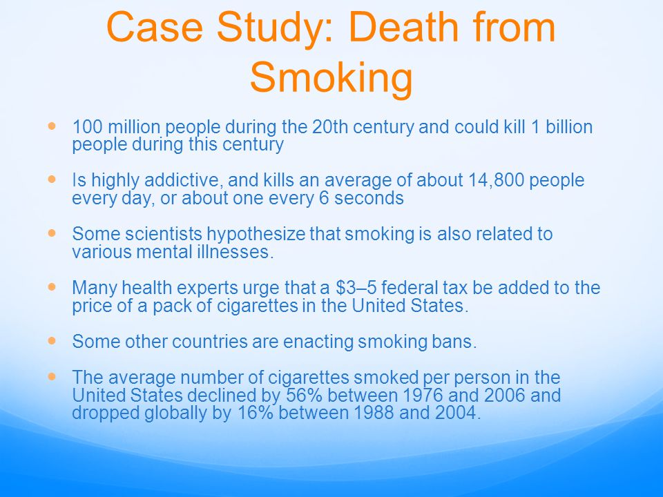 Case Study: Death from Smoking