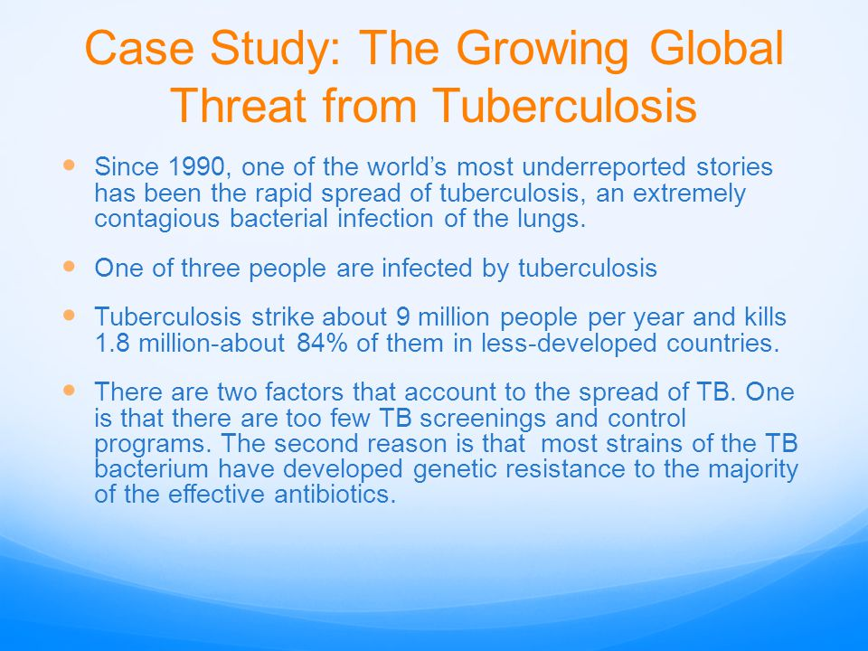 Case Study: The Growing Global Threat from Tuberculosis