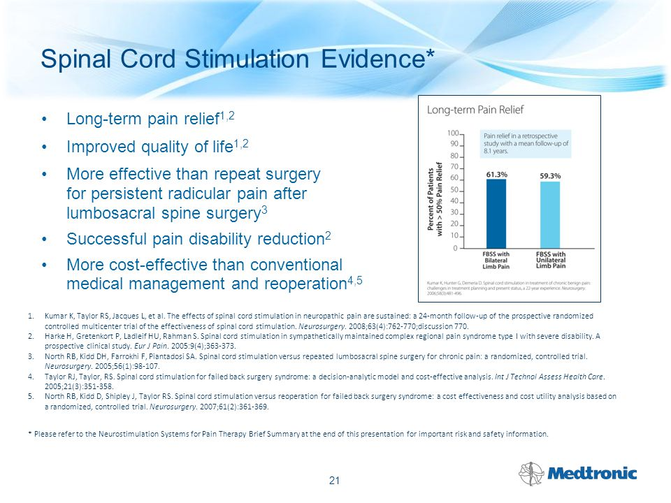 Spinal Cord Stimulation Evidence*
