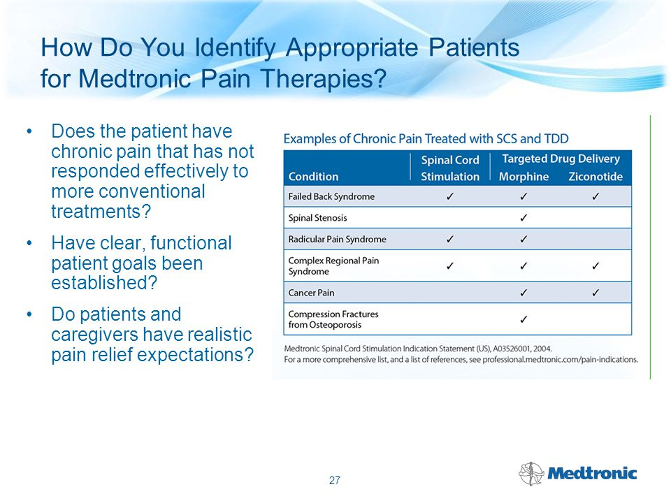 How Do You Identify Appropriate Patients for Medtronic Pain Therapies