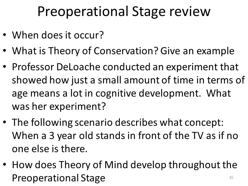 Preoperational Stage review