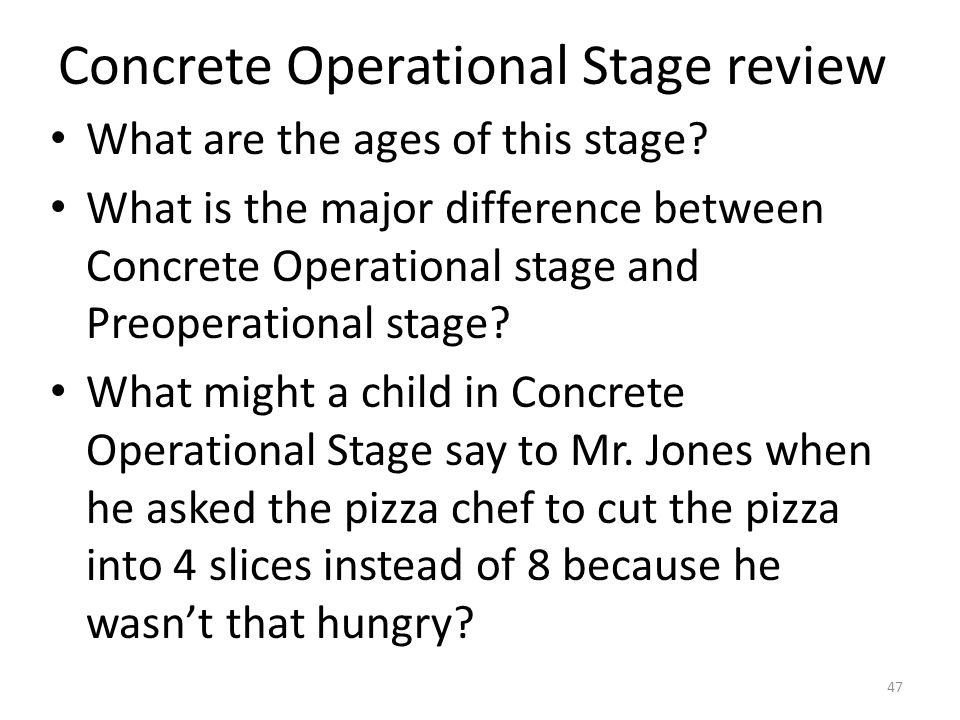 Concrete Operational Stage review