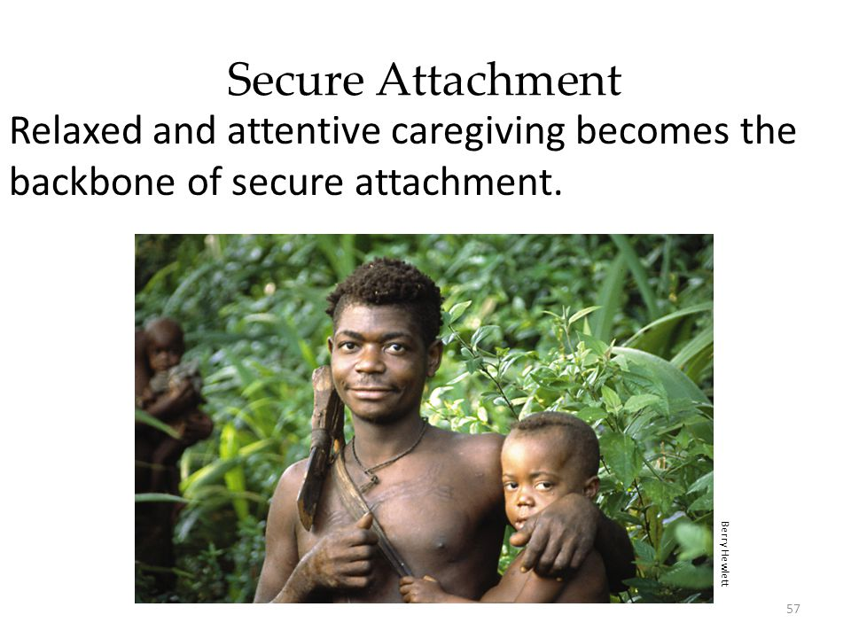 Secure Attachment Relaxed and attentive caregiving becomes the backbone of secure attachment.