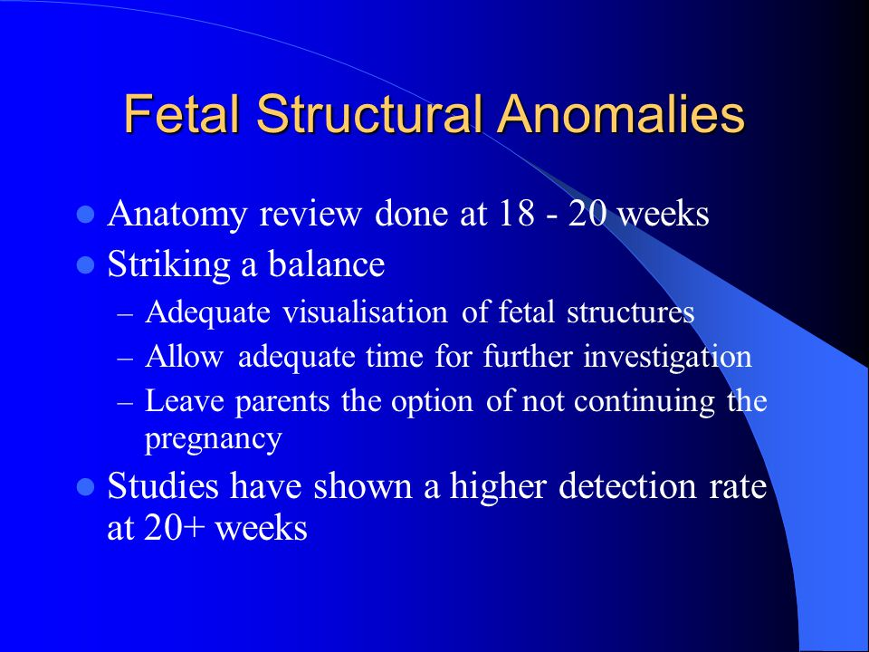 Fetal Structural Anomalies