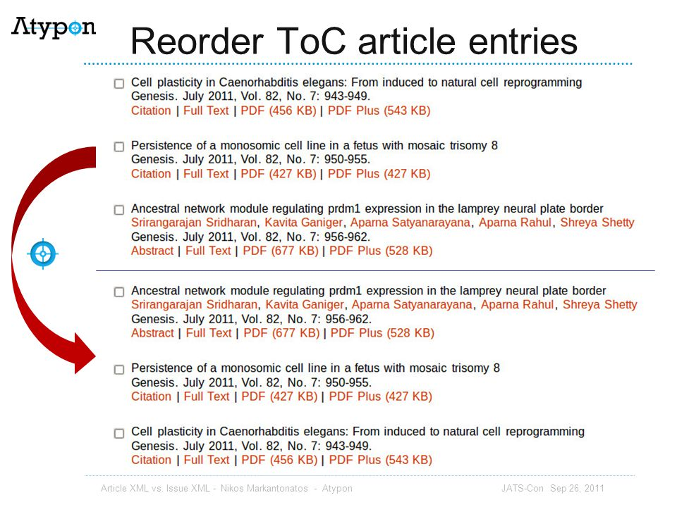 Reorder ToC article entries