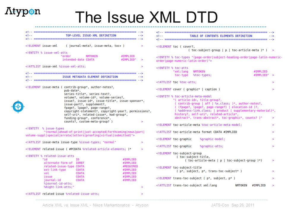 The Issue XML DTD