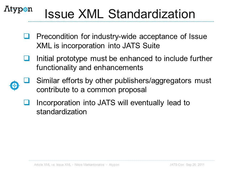 Issue XML Standardization