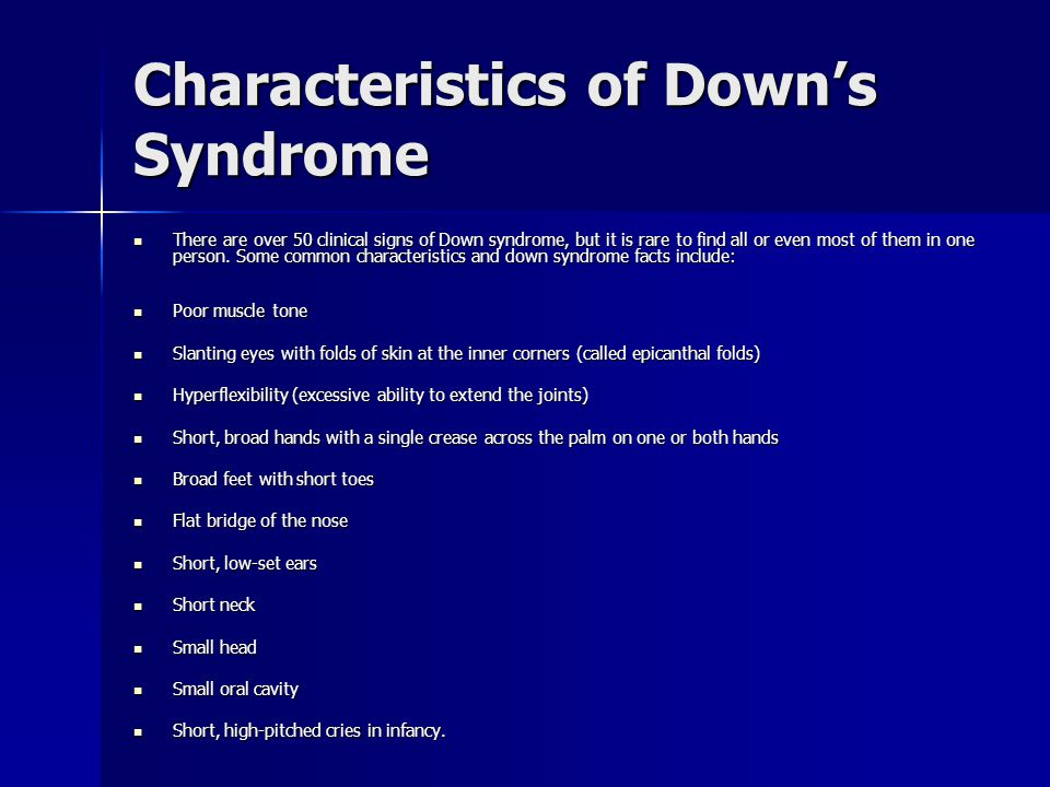 Characteristics of Down's Syndrome