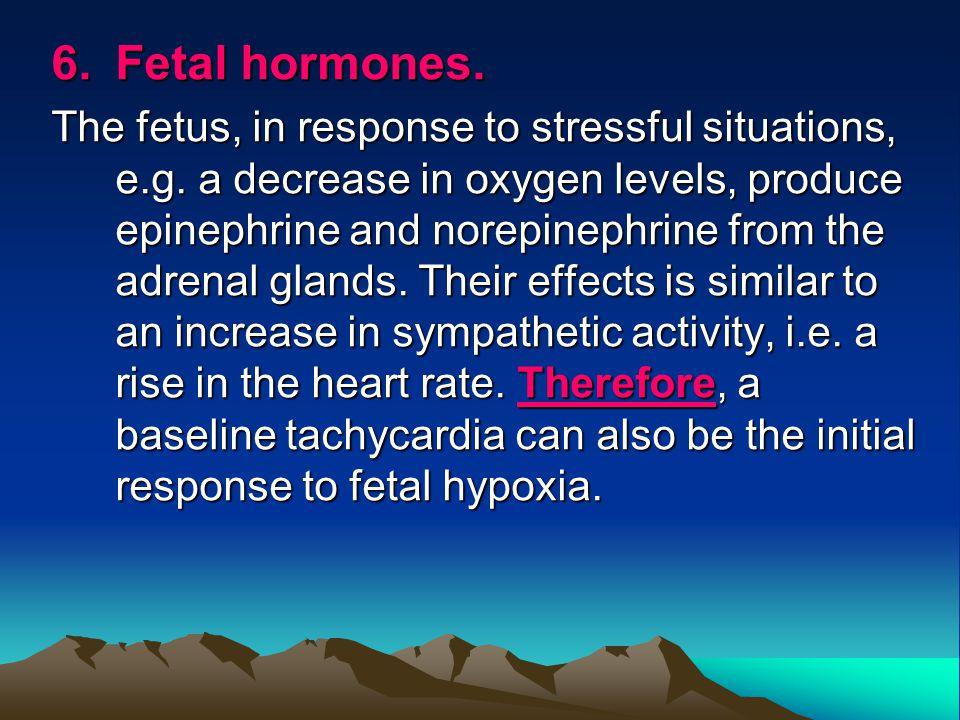 6. Fetal hormones.