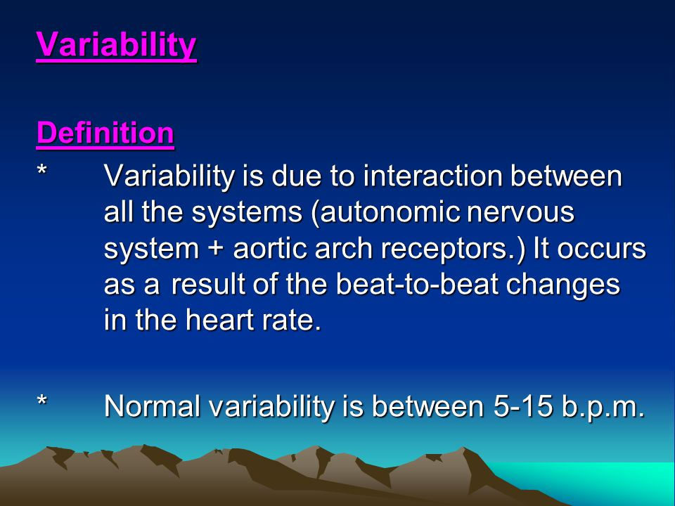 Variability Definition