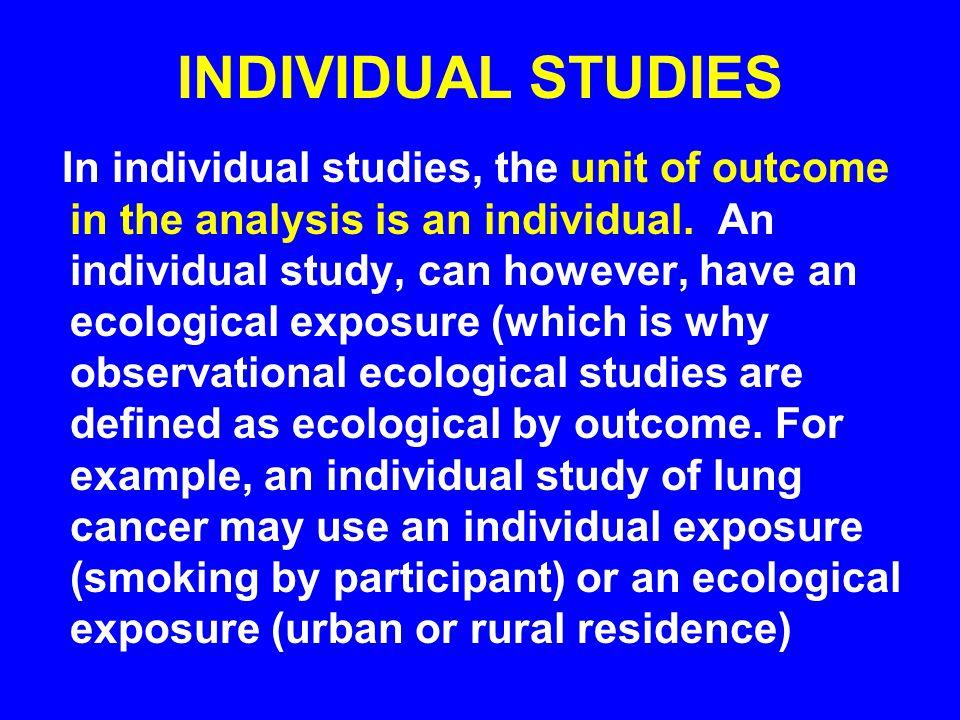 INDIVIDUAL STUDIES