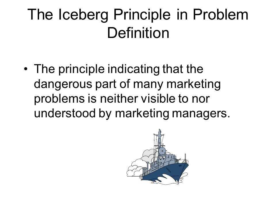 The Iceberg Principle in Problem Definition