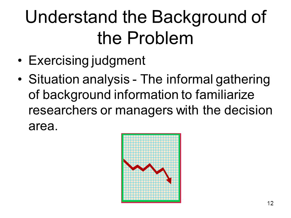 Understand the Background of the Problem
