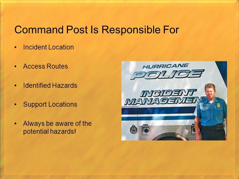 Command Post Is Responsible For