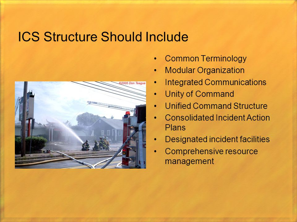 ICS Structure Should Include