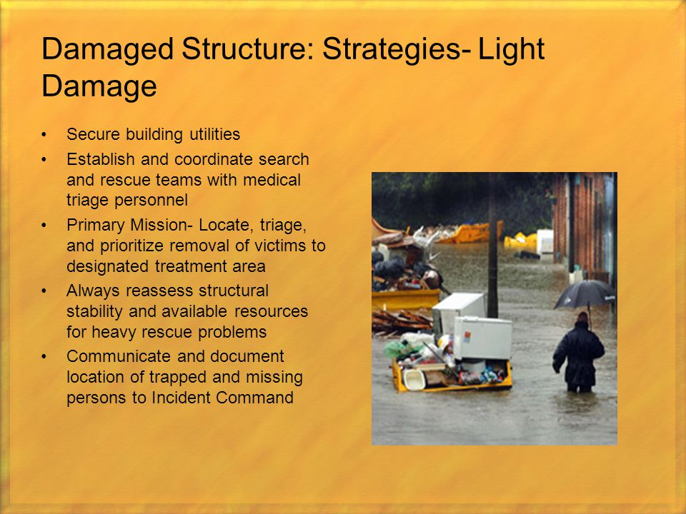 Damaged Structure: Strategies- Light Damage