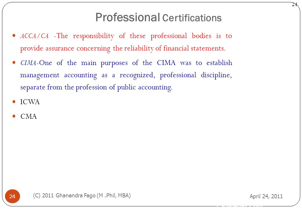 Professional Certifications